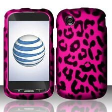 For ZTE Merit Z990g Rubberized HARD Case Snap on Phone Cover Hot Pink Leopard