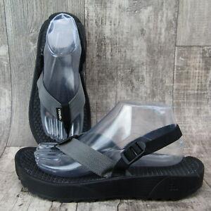 Teva Men's Ankle Strap Flip Flop Sandals Black Size 7 Rubber Soles