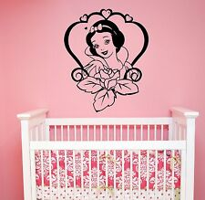 Snow White Wall Sticker Disney Princess Vinyl Decal Cartoon Art Nursery Decor s3