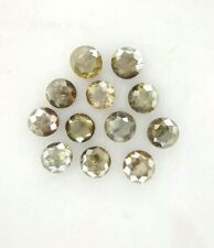 Natural Diamond Lot 12 Pcs Brown Gray Sparkling Round Rose Cut 1.50TCW for Gift