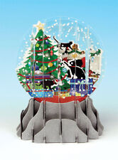 Holiday Cats Snow Globe - Up With Paper Pop-Up Christmas Card