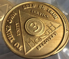 100 Bronze AA Recovery Medallion Coin Alcoholics Anonymous Any Month & Year NA