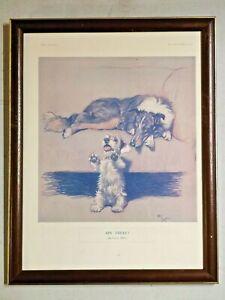 Vintage Original Cecil Aldin Print 'ON TRUST !'