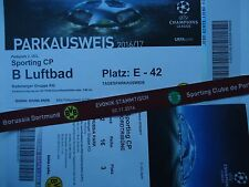 VIP TICKET Band & Parking UEFA CL 2016/17 Borussia Dortmund - Sporting CP (2)