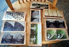 9 Mixed Stereograph,Yellowstone Railroad Niagara Fox Hunters Botanical & More