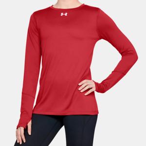 Under Armour Women's UA HeatGear Locker 2.0 Long Sleeve T Shirt. Red