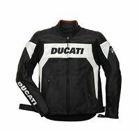 Ducati Motorbike Racing CowHide Leather Jacket Motorcycle Jacket ALL SIZES