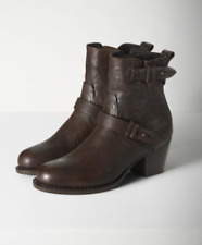 NIB $595 Rag & Bone  harper moto boots dark brown size US 9.5 EUR 39.5
