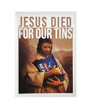 STICKER TOOHEYS NEW JESUS DIED FOR OUR TINS BEER BUMPER FREE POST