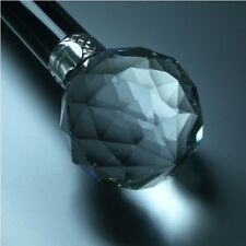 KNAUFSTOCK - FACETTIERTES MURANO GLAS - 925 STERLING SILBER - SPAZIERSTOCK