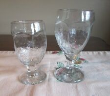 LiBBey Lot 2 CHIVALRY Clear 1- Water Goblet 1- Banquet Goblet