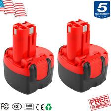 2X 9.6 Volt Battery for Bosch BAT048 BAT049 BAT119 32609 23609 GSR PSR GDR 9.6V