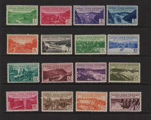 U.S. Canal Zone - #120-135 Mint, NH, cat. $ 162.75