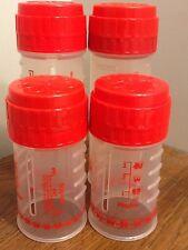 4 red PLAYTEX ORIGINAL DROP-INS NURSER baby BOTTLES 8oz 4oz Free Ship No Nipples