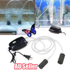 2Pcs Air Bubble Disk Stone Aerator Aquarium Fish Tank Pond Oxygen Pump ON