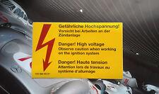 Danger!High Voltage! Mercedes engine label, sticker. NEW.1971 - 2008, FREE SHIPP
