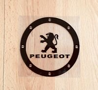 Amazing Car Fuel Gas Tank Cap Stickers Adhesive Graphic For Peugeot (Black)