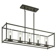 Kichler Crosby Linear 5 Light Chandelier, Olde Bronze - 43995OZ