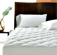 40cm EXTRA DEEP QUILTED MATTRESS PROTECTOR 100% COTTON SINGLE SMALL DOUBLE KING