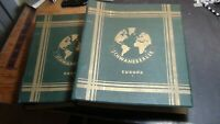 Europe stamp collection in 2 Vol. Schwaneberger albums w/ 5200 stamps to '38