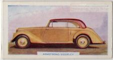 Armstrong Siddeley Typhoon Fixed-Fead Coupe British Auto c70 Y/OTrade Ad Card