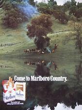 PUBLICITÉ DE PRESSE 1990 COME TO MARLBORO COUNTRY - COW-BOY
