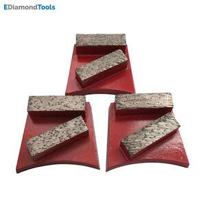 Concrete Grinding Discs for Fast Change Grinders #60/80 Grit Medium Bond 3 pcs