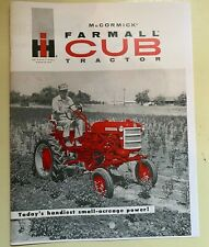 Mc Cormick Farmall Cub Tractor Advertisement Brochure