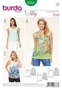 Burda Style Schnittmuster - Top - Shirt - Lagen-Top - Nr. 6763