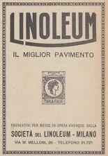 Z2710 LINOLEUM il miglior pavimento - Pubblicità d'epoca - 1923 old advertising