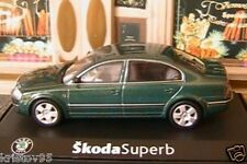 SKODA SUPERB BERLINE 2.5 TDI NATURE GREEN ABREX 1/43 REPUBLIK TCHEQUE VERT GRUN