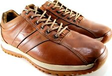 Perry Ellis Men Leather Athletic Shoes Size 10 Euro 44 Brown Mustard Style180533