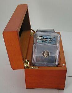 Wood Presentation Boxed 14 Coin Proof ICG 2008 S PR69 DCAM Plastic Slabbed Set