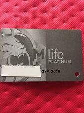 M Life Platinum Casino Slot Players Card Exp 09/19