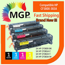 4x Generic Toner CF380X CF381A CF382A CF383A 312X for HP LaserJet M476DW M476NW