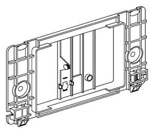 Sanit Einhängerahmen für Drückerplatte Betätigungsplatte Taste 2-Mengenspülung