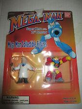 """1994 1995 Megaman MOC 2"""" Dr Light & Gutsman Mini Figure Capcom Bandai"""