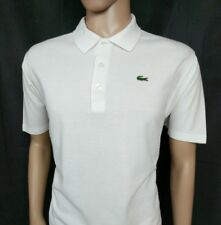 Lacoste Sport Camisa Polo para hombre Blanco Top Talla 7 Reino Unido XL Golf Tenis Nuevo PVP £ 85