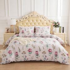 Floral Duvet Cover Pillowcase Quilt Reversible Bedding Set Twin Queen King Size