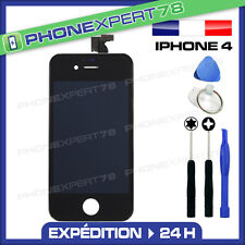 VITRE TACTILE IPHONE 4 + ECRAN LCD SUR CHASSIS + OUTILS