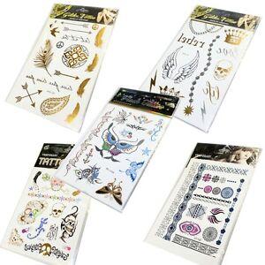 Tattoo Gold Silber Metall Temporary Flash Tattoo ☆Henna Fatma☆ Auswahl AVPTattoo