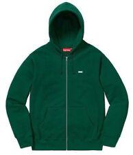 13df9346d7ea Supreme Reflective Small Box Zip Up Sweatshirt Hoodie Size Large Dark Green  FW18