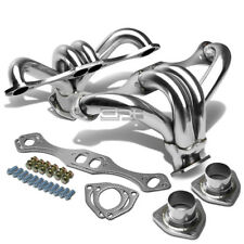CHEVY SMALL BLOCK HUGGER SBC 283/305/327/350/400 STAINLESS EXHAUST SHORTY HEADER