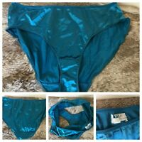 2000 Hanes Bikini Panties Blue SECOND SKIN Nylon Spandex Hi-Cut Panty Briefs 8