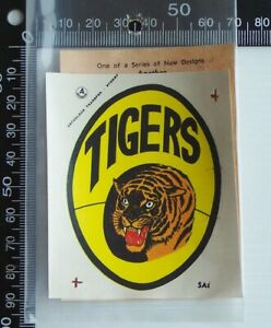 VINTAGE SANFL GLENELG FOOTBALL CLUB TIGERS ARTCOLOUR TEAM LOGO TRANSFER DECAL