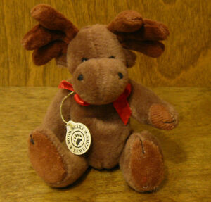 """Boyds Wuzzies Plush #595102 T. FARGO WUZZIE MOOSE, 5"""" NEW/Tag From Retail Store"""