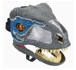 Jurassic World Chomp N Roar Velociraptor Blue Fallen Kingdom Dinosaur Mask NEW