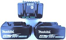 (3) NEW Makita BL1840B 18V GENUINE Batteries 4.0 AH W/ Fuel Gauge 18 Volt LXT