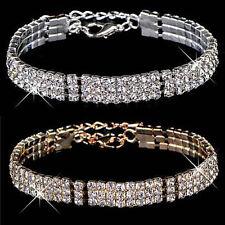Women Noble Crystal Bracelets Multi-Chain Rhinestone Bracelets Bangles Jewelrys