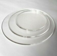Set of 3 Round Clear Acrylic Cake Boards - 4mm - Birthday Wedding Christening